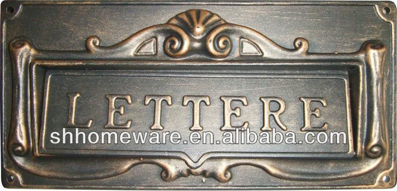 Wall Mailbox Slot Zinc-alloy Wall Mail Slots