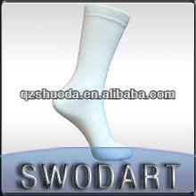 China custom High Elastic Heel men white 100% cotton socks