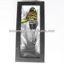 bird glass wine stoppers wholesale,chinese cork art,chinese handicraft