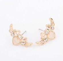 2013 new arrival Korean cartoon love wings Stud Earrings
