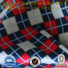 100%polyster plaid printed polar fleece fabric
