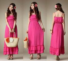 2013 Hot Sale Bohemian Summer Beach Sleeveless Maxi Dress
