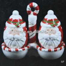 Ceramic Christmas santas head ornament