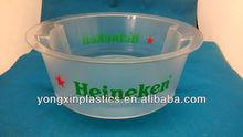 bar beer plastic transparent ice bucket with opener