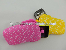 Top quality fancy portable silicone cell phone casing for samsung and Iphone
