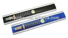 JH5007 desktop 8 digital dual power ruler calculator with digital clock