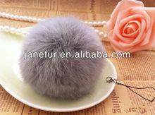 Genuine quicksilver 6cm rabbit fur ball for scarf