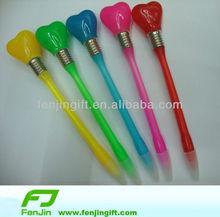 heart pen with LED heart led pen led heart ballpoint pen