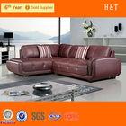 Sofa set purple leather sofa modern corner sofa t837