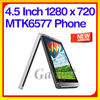 4.5'' IPS MTK6577 Dual Core Dual SIM no.1 i9400 smart phone android 4.1 mtk6577t 1.2ghz