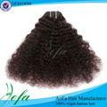 Maraña libre y longevidad pinza de pelo natural ondulado en las extensiones