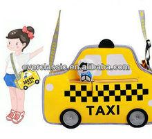 Hot Sale Jump From Paper Cartoon Bag 3D Taxi Model