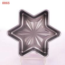 Profesional 8 pulgadas mini estrella del hexágono en forma de revestimiento antiadherente para hornear decorativos molde para pasteles moldes moldes estaño