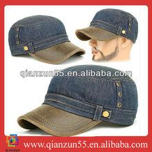 headwear popular leather brim mens cap canvas mens cap canvas flat cap