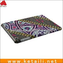 2013 OEM pc cover for mini ipad.water imprint +UV oil