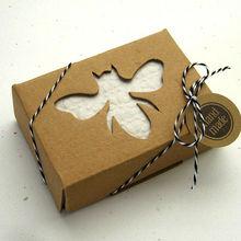 Kraft boxes soap box with honey bee window handmade paper soap box