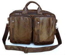 Design Vintage Leather Men's Briefcase Bag Backpack Messenger