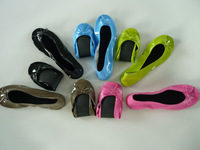 Wedding roll up shoes, foldable shoes,