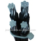 XLPE insulated overhead ABC cable (Service drop cable)