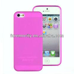 tpu matt case for iphone 5 with phone dust plug