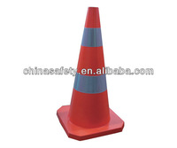 Double reflective painting of rubber road cone