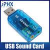 multicolor 3d sound card usb 5.1 usb audio adapter