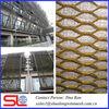 Perforated decorative metal sheet cladding