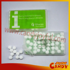 Sugar free plastic mint candy