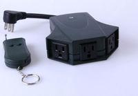 3ch wireless remote control outdoor socket (ZABS-3)