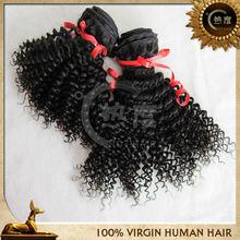 Cheap kinky curl human hair extension malaysian remy kinky curly human hair weft