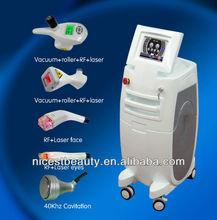 Hot sale vacuum rf body shaping + infrared laser fat removal + rolling velashape V8+2