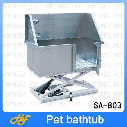 Stainless steel electric lifting bath-tub,dog bath-tub SA-803