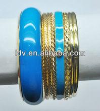 Shiny turquoise bangle braclet set $1.5/set include 9 pcs