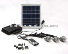 portable led solar home power system