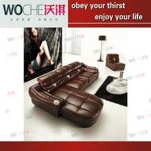 Luxury noble modern genuine leather italian style living room sofa WQ6802
