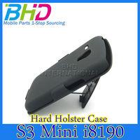 Black Glaze Hard Back Case Cover With Belt Clip Holster Fit For Samsung i8190