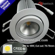 15w 4w 10w 3years warranty dimmable 12v led downlight 80mm