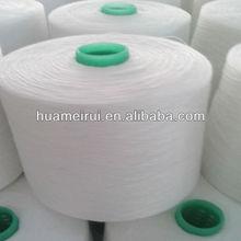Super bright short fiber of polyester yarn on paper/plastic cone