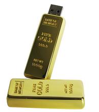 2012 Top Sale Big Golden Bar USB Flash Disk