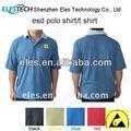 Esd t- camisa de trabalho antiestática camisa polo