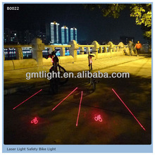 Laser and LED Bicycle Safety Light