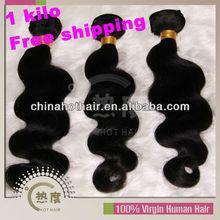 hotsale real human hair extension virgin brazlian hair 5A