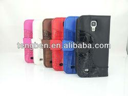 PU case for Samsung Galaxy S4 S IV i9500 BLACK