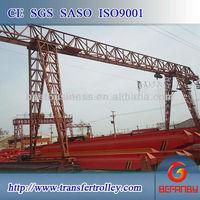 Shipyard 30t crane gantri with forged wheel