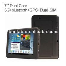 hot sale 7 inch dual sim phone wifi,bluetooth, gps, tv,FM Transmitter MT3