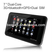Manufacturer 7 inch tablet+pc+3g+ranura+para+tarjeta+sim Android 4.0 OS,gps, tv,FM Transmitter MT3