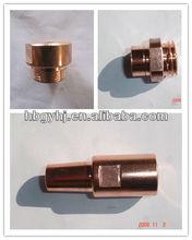 Fixed point electrode in spot welding
