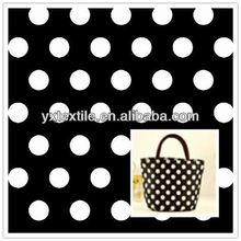 200D cheap polka dots printed oxford fabric for handbags