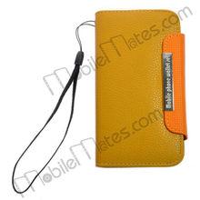 Lichee Pattern Senior Card Holster Leather Flip Case for HTC Desire X Case