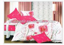 hot sale 3pcs print bedding set /duvet cover set/fitted sheet set